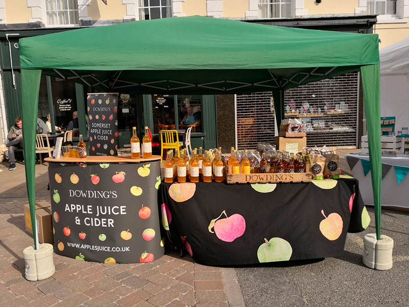 Dowdings Market stall on web
